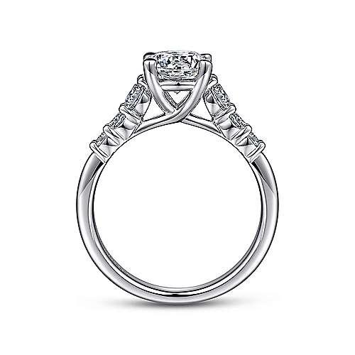 Darby Platinum Round Straight Engagement Ring angle 2
