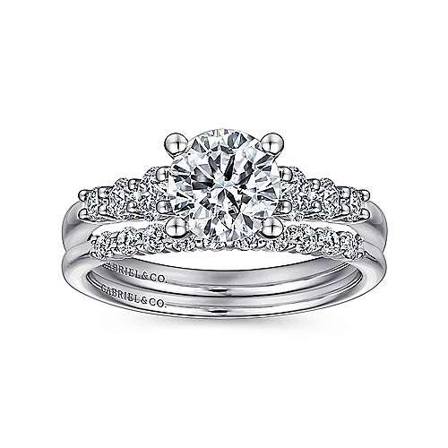 Darby Platinum Round Straight Engagement Ring angle 4