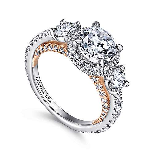 amavida diamond nicole ring engagement products cushion gold halo gabriel style rings white grande