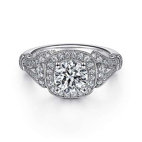 White Gold Engagement Rings Gabriel & Co