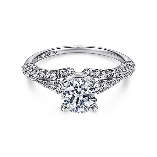 diamond products amavida engagement with mounting alexandra gallery straight rings round ring gabriel ornate platinum