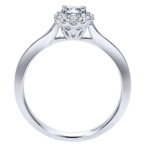 Embrace 14k White Gold Round Halo Engagement Ring