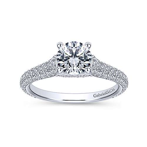 Gavin 18k White Gold Round Straight Engagement Ring