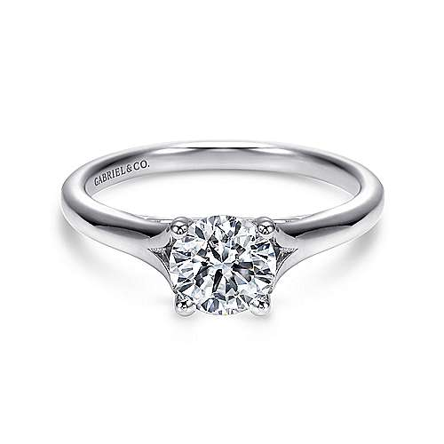 Gabriel - Gillian Platinum Round Solitaire Engagement Ring