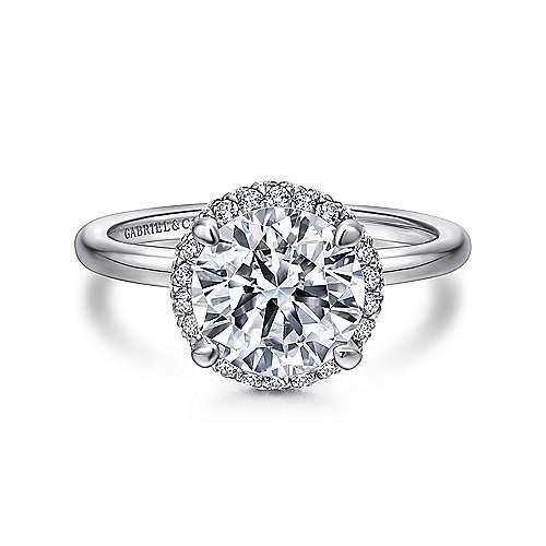 Gabriel - Graham Platinum Round Double Halo Engagement Ring