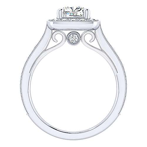 Harper 14k White Gold Cushion Cut Straight Engagement Ring angle 2