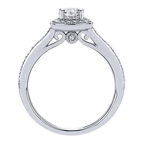 Harper 14k White Gold Round Halo Engagement Ring angle 2