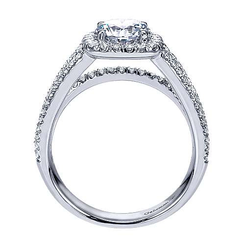 hillary 14k white gold round halo engagement ring