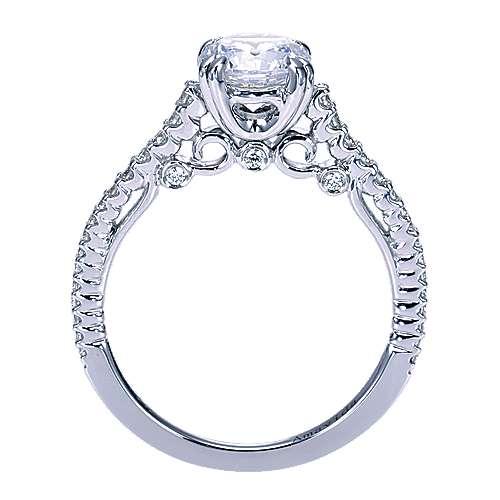 Ingrid 18k White Gold Round Straight Engagement Ring angle 2