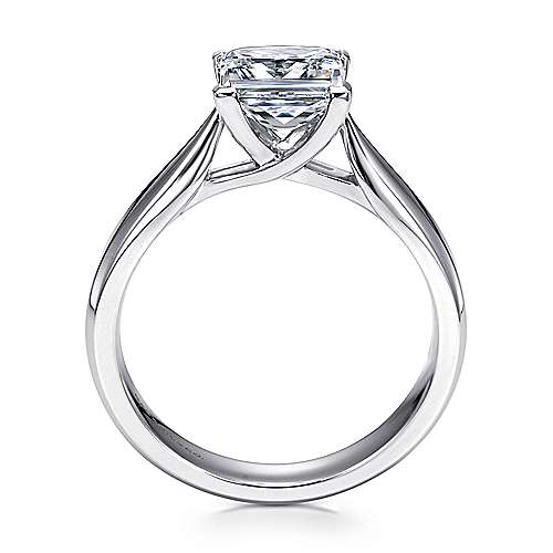 Jamie 14k White Gold Princess Cut Solitaire Engagement Ring angle 2