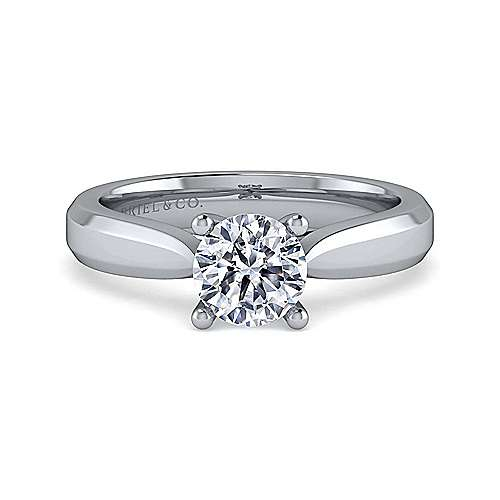 Gabriel - Jamie 14k White Gold Round Solitaire Engagement Ring