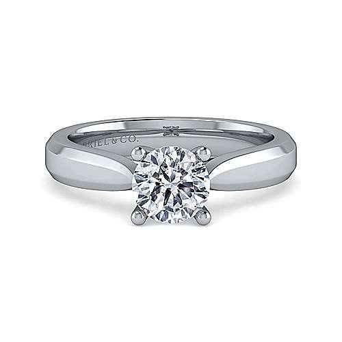 Gabriel - Jamie 14k White Gold Round Solitaire Engagement Ring