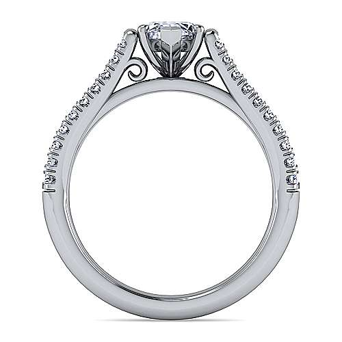 Janelle 14k White Gold Marquise  Split Shank Engagement Ring angle 2