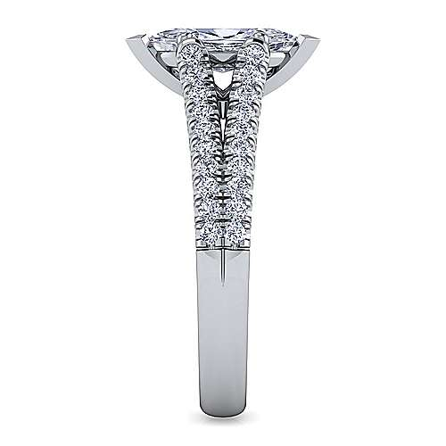 Janelle 14k White Gold Marquise  Split Shank Engagement Ring angle 5