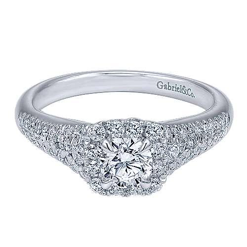Gabriel - Janidi 14k White Gold Round Halo Engagement Ring