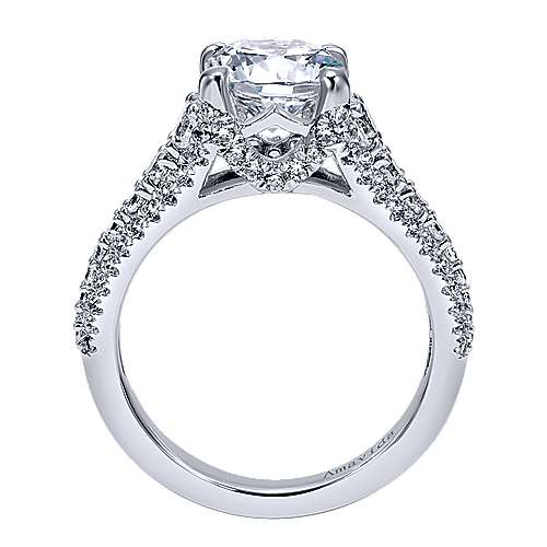 Jaynese 18k White Gold Round Straight Engagement Ring