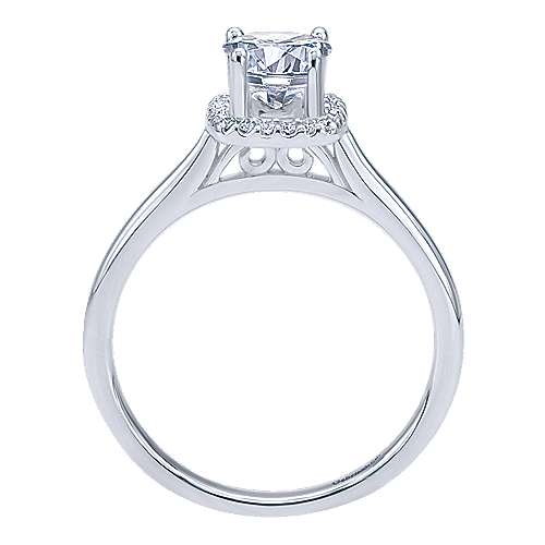 Jenna 14k White Gold Round Halo Engagement Ring angle 2