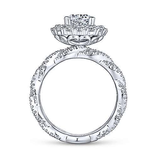 Jennifer 18k White Gold Round Double Halo Engagement Ring angle 2