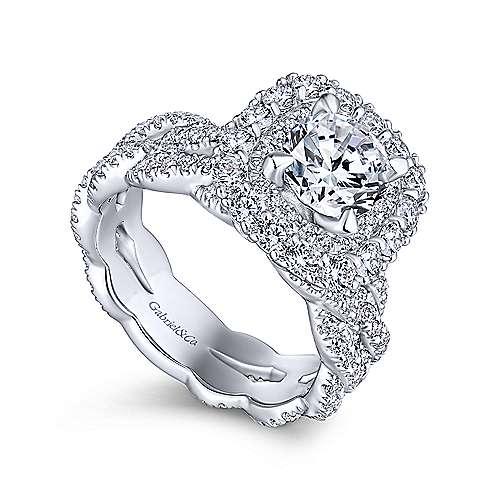 Jennifer 18k White Gold Round Double Halo Engagement Ring angle 3