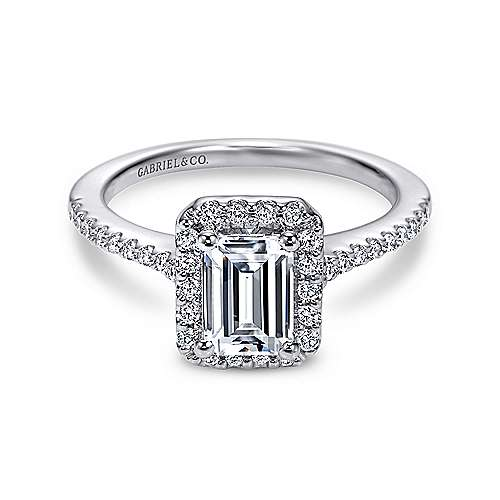 gabriel emerald jewellery with diamond white rings cut halo gold ring setting engagement channel