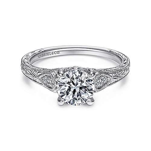 Gabriel - Kerry Platinum Round Straight Engagement Ring