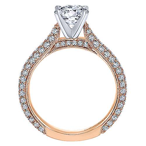 Kirsten 14k White And Rose Gold Round Straight Engagement Ring angle 2