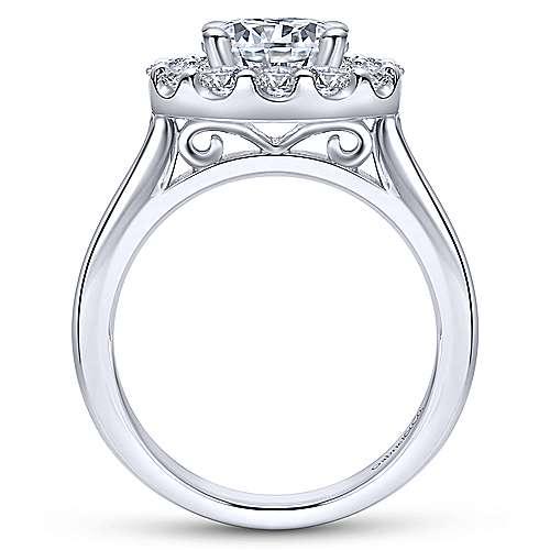 Lana 14k White Gold Round Halo Engagement Ring angle 2