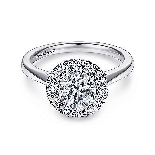 Gabriel - Lana Platinum Round Halo Engagement Ring