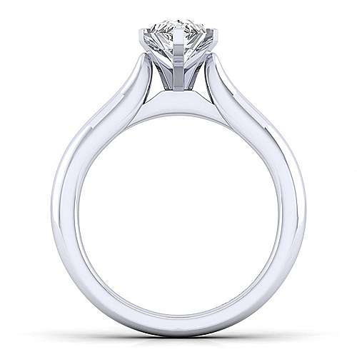Lauren 14k White Gold Pear Shape Solitaire Engagement Ring angle 2
