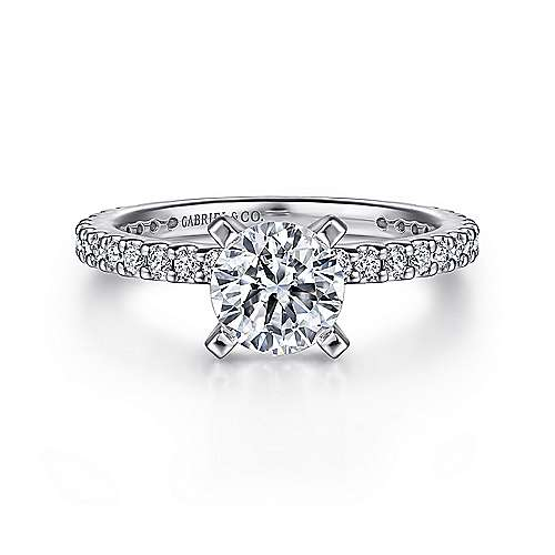Gabriel - Logan Platinum Round Straight Engagement Ring