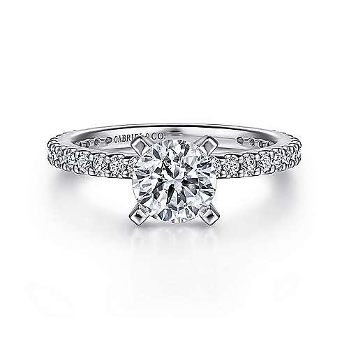 Gabriel - Logan Platinum Round Straight Engagement Ring