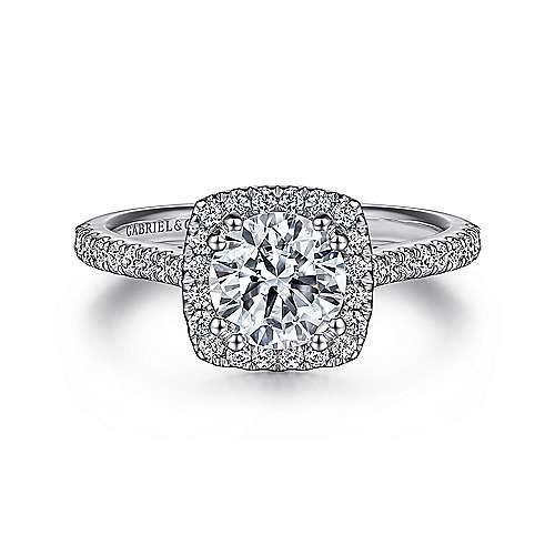 Gabriel - Lyla Platinum Round Halo Engagement Ring