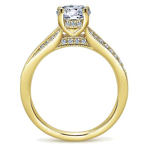 Lynley 14k Yellow Gold Round Split Shank Engagement Ring angle 2