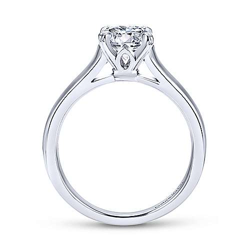 Maeve 14k White Gold Round Solitaire Engagement Ring