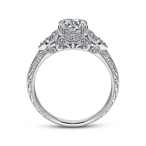 Margarita Platinum Round Halo Engagement Ring
