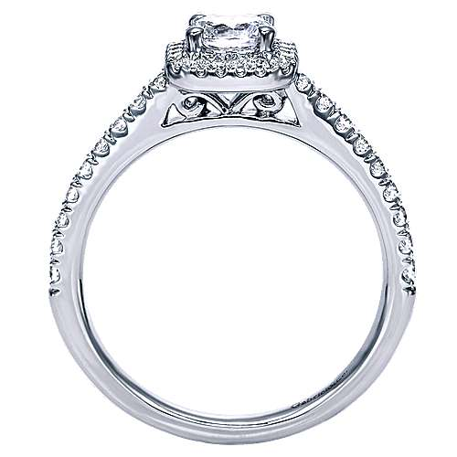 Margot 14k White Gold Round Halo Engagement Ring