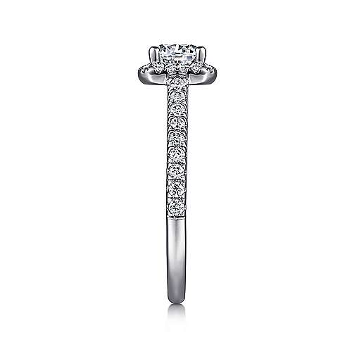 Margot 14k White Gold Round Halo Engagement Ring angle 5