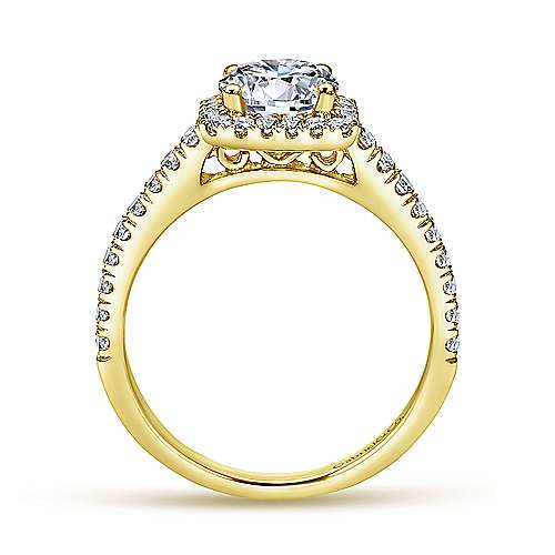 Margot 14k Yellow Gold Round Halo Engagement Ring