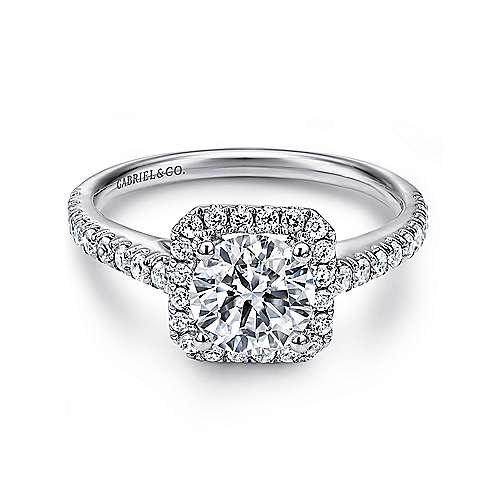 Gabriel - Margot Platinum Round Halo Engagement Ring