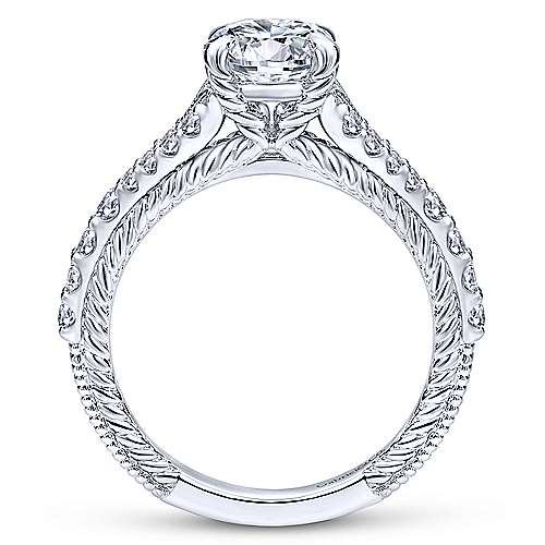 Marisol 14k White Gold Round Straight Engagement Ring angle 2