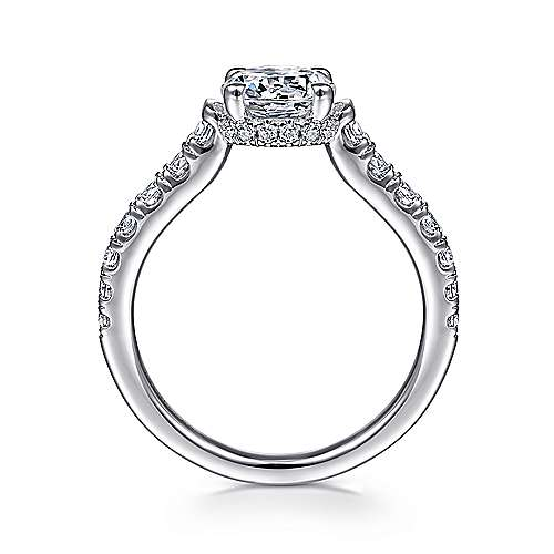 Matilda 14k White Gold Round Straight Engagement Ring angle 2