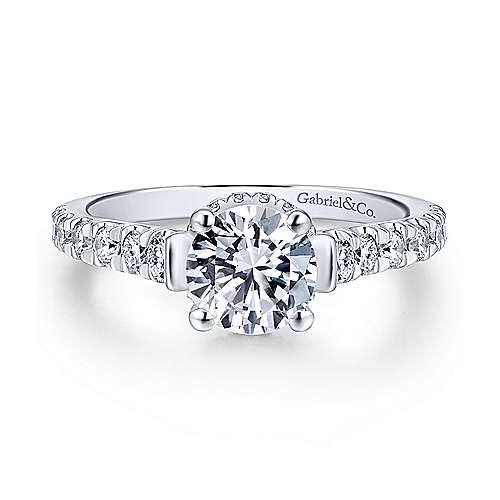Gabriel - Matilda Platinum Round Straight Engagement Ring