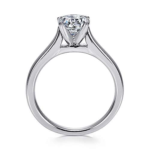 Mckinley 14k White Gold Round Solitaire Engagement Ring angle 2