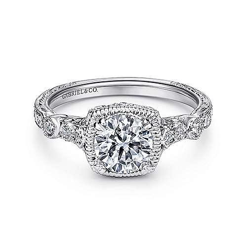 Gabriel - Metropolitan Platinum Round Straight Engagement Ring
