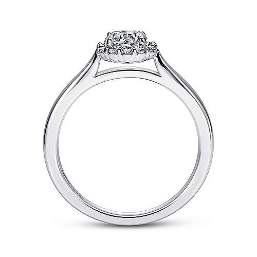 Michaela 14k White Gold Round Halo Engagement Ring angle 2