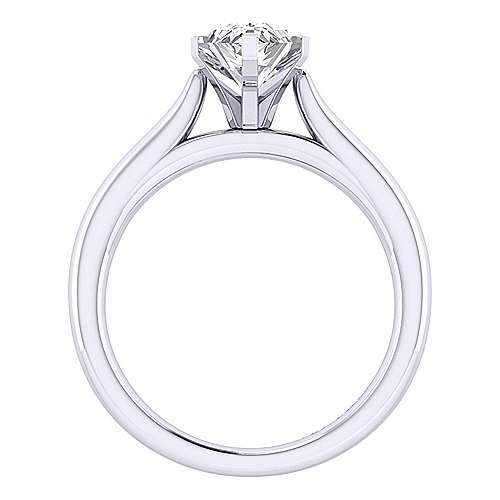 Michelle 14k White Gold Pear Shape Solitaire Engagement Ring angle 2