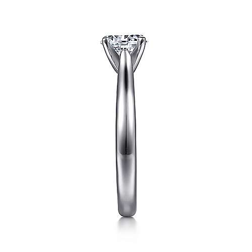 Michelle 14k White Gold Round Solitaire Engagement Ring angle 5