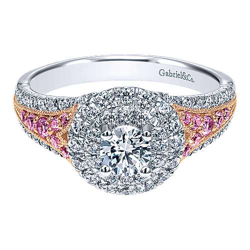 diamond rings cut engagement cushion ring pink double soleste with diamonds inspired halo