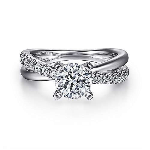 Gabriel - Morgan Platinum Round Twisted Engagement Ring