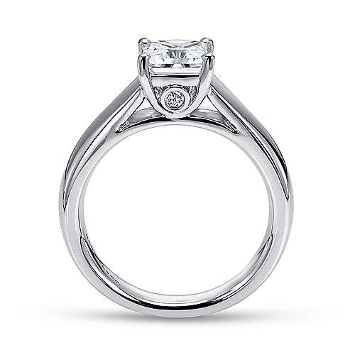 Mya 14k White Gold Princess Cut Solitaire Engagement Ring angle 2